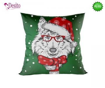 Коледна декоративна възглавница с код PL-02