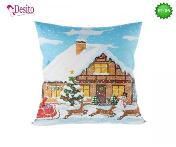 Коледна декоративна възглавница с код PL-06