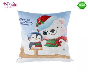 Коледна декоративна възглавница с код PL-09