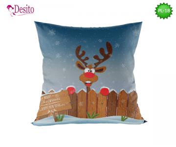 Коледна декоративна възглавница с код PL-18