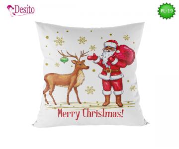 Коледна декоративна възглавница с код PL-19