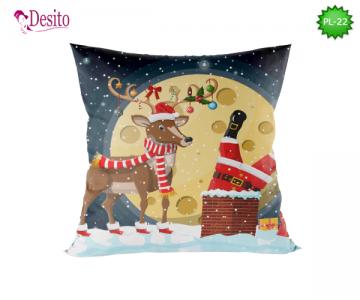 Коледна декоративна възглавница с код PL-22