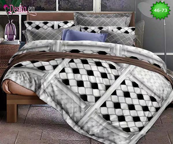 Спално бельо от 100% памук, 6 части - двулицево, с код 46-73