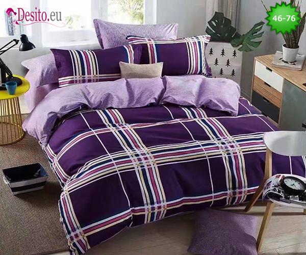 Спално бельо от 100% памук, 6 части - двулицево, с код 46-76