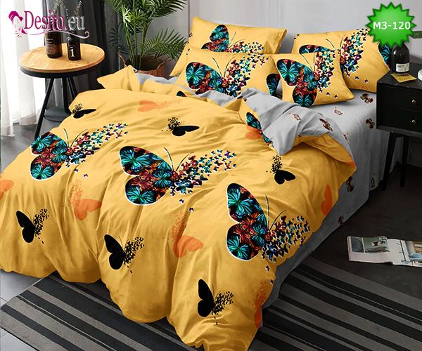Спално бельо от 100% памук, 6 части, двулицево с код M3-120