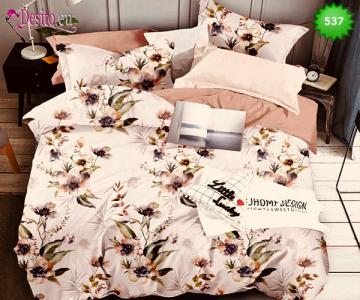 Спално бельо от 100% памук, 6 части - двулицево, с код 537