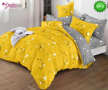 Спално бельо от 100% памук, 6 части и чаршаф с ластик с код GT-02