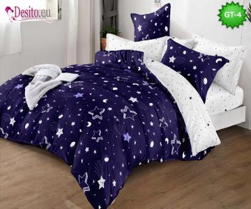 Спално бельо от 100% памук, 6 части и чаршаф с ластик с код GT-04