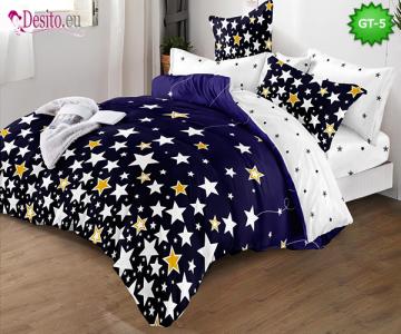 Спално бельо от 100% памук, 6 части и чаршаф с ластик с код GT-05