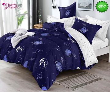 Спално бельо от 100% памук, 6 части и чаршаф с ластик с код GT-07