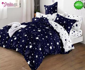 Спално бельо от 100% памук, 6 части и чаршаф с ластик с код GT-11
