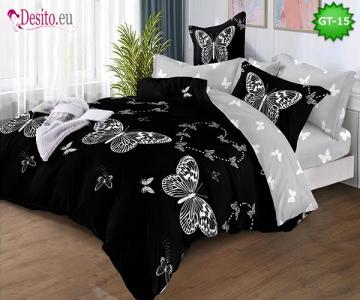 Спално бельо от 100% памук, 6 части и чаршаф с ластик с код GT-15
