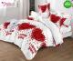Спално бельо от 100% памук, 6 части и чаршаф с ластик с код GT-16