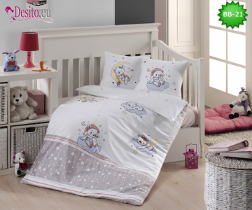 Детско спално бельо от 100% памук, 4 части с код BB-21