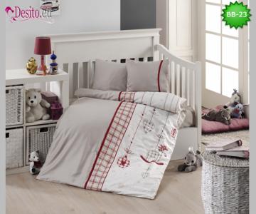 Детско спално бельо от 100% памук, 4 части с код BB-23