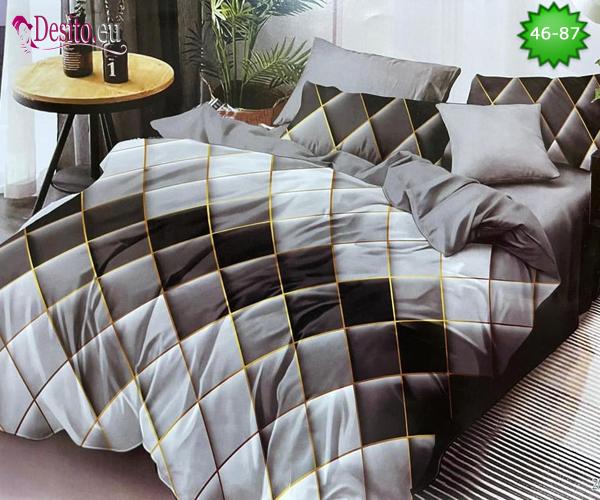 Спално бельо от 100% памук, 6 части - двулицево, с код 46-87