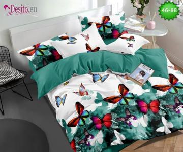 Спално бельо от 100% памук, 6 части - двулицево, с код 46-88