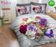 Спално бельо от 100% памук, 6 части - двулицево, с код 46-90