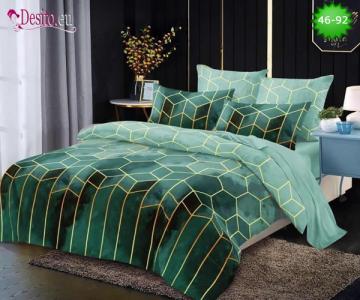 Спално бельо от 100% памук, 6 части - двулицево, с код 46-92