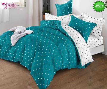 Спално бельо от 100% памук, 6 части и чаршаф с ластик с код GT-17