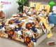 Спално бельо от 100% памук, 6 части - двулицево, с код C7-146