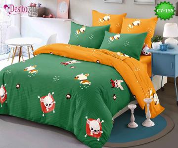 Спално бельо от 100% памук, 6 части - двулицево, с код C7-155