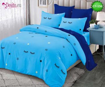 Спално бельо от 100% памук, 6 части - двулицево, с код C7-156