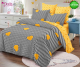 Спално бельо от 100% памук, 6 части - двулицево, с код C7-158