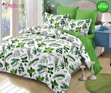 Спално бельо от 100% памук, 6 части - двулицево, с код C7-163