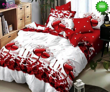 Спално бельо от 100% памук, 6 части, двулицево с код 560