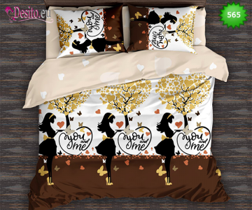 Спално бельо от 100% памук, 6 части, двулицево с код 565