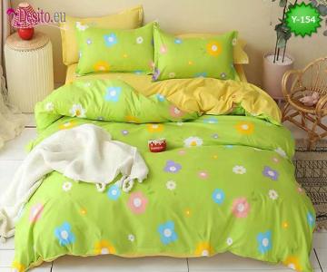 Единично спално бельо, 4 части, 100% памук с код Y-154