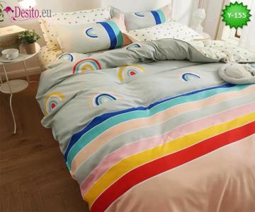 Единично спално бельо, 4 части, 100% памук с код Y-155