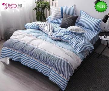 Единично спално бельо, 4 части, 100% памук с код Y-156