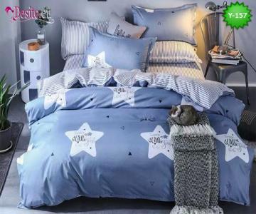 Единично спално бельо, 4 части, 100% памук с код Y-157