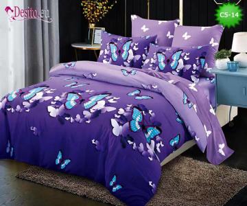 Спално бельо от 100% памук, 6 части и чаршаф с ластик с код C5-14