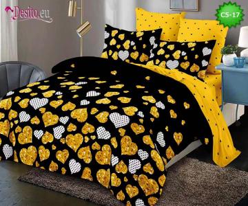 Спално бельо от 100% памук, 6 части и чаршаф с ластик с код C5-17