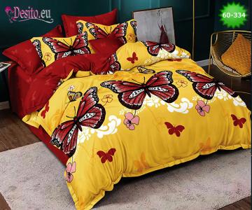 Спално бельо от 100% памук, 6 части, двулицево с код 60-334