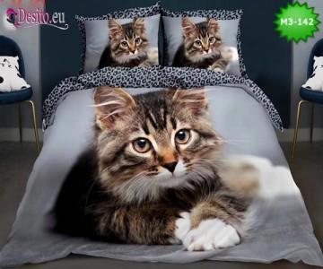 Спално бельо от 100% памук, 6 части, двулицево с код M3-142