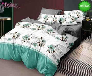 Спално бельо от 100% памук, 6 части, двулицево с код M3-140