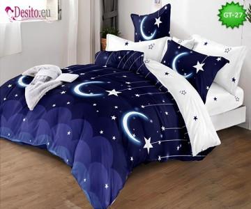 Спално бельо от 100% памук, 6 части и чаршаф с ластик с код GT-27
