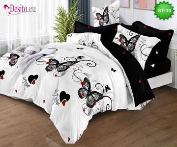 Спално бельо от 100% памук, 6 части и чаршаф с ластик с код GT-30