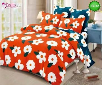 Спално бельо от 100% памук, 6 части и чаршаф с ластик с код C5-32