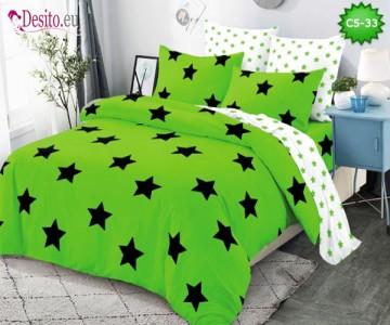Спално бельо от 100% памук, 6 части и чаршаф с ластик с код C5-33