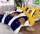 Спално бельо от 100% памук, 6 части и чаршаф с ластик с код GT-32