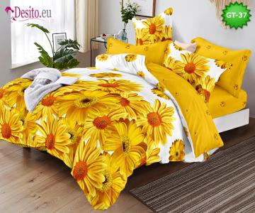 Спално бельо от 100% памук, 6 части и чаршаф с ластик с код GT-37