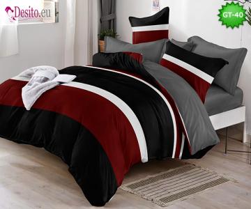 Спално бельо от 100% памук, 6 части и чаршаф с ластик с код GT-40