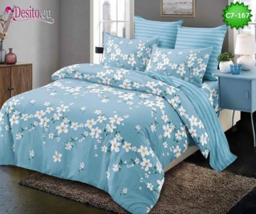 Спално бельо от 100% памук, 6 части - двулицево, с код C7-167