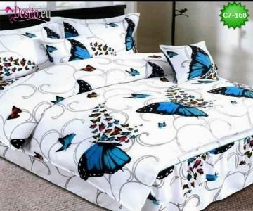 Спално бельо от 100% памук, 6 части - двулицево, с код C7-168