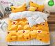 Спално бельо от 100% памук, 6 части - двулицево, с код 41-59